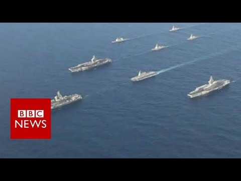 US displays military might near Korea - BBC News
