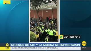 Serenos de Ate y La Molina se enfrentaron por límites (RPP)