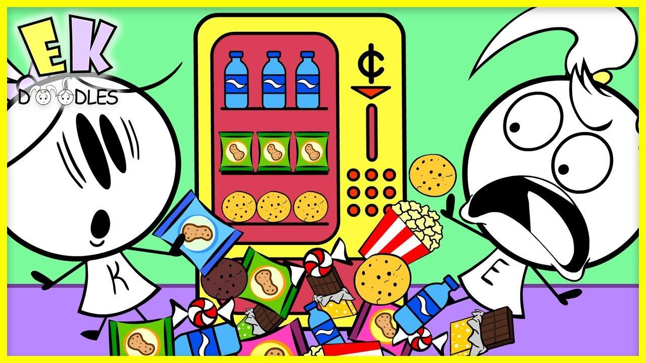 Download Pretend Play Cardboard DIY Vending Machine Box Fort! EK Doodles Use Imagination