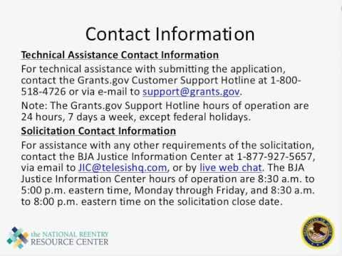 Second Chance Act - Applying for Adult Demonstration Grants
