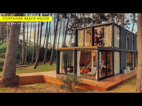 Shipping Container Beach House in Ocean Park, Uruguay