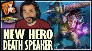 DEATH SPEAKER IS A GOOD HERO?! - Hearthstone Battlegrounds