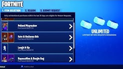 HOW to GET *UNLIMITED* REFUNDS in FORTNITE - NO REFUND LIMIT for SKINS in FORTNITE BATTLE ROYALE!