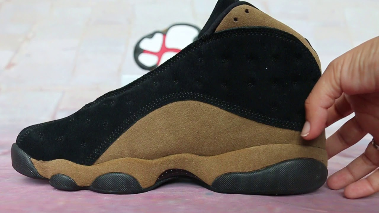 88c3c188a90 Air Jordan 13 Olive BlackGym Red Light Olive White HD Show - YouTube