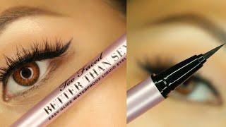 Toofaced Better Than Sęx Waterproof Eyeliner Quick Review Swatch Tutorial Asian Eyes Cat Eye
