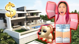 I BOUGHT A MILLION DOLLAR MANSION FOR MY PET!! (ROBLOX ADOPT ME)
