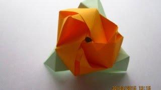 Как сделать розу-трансформер из бумаги.Оригами(В этом видео я подробно покажу как сделать розу-трансформер из бумаги по системе оригами JOIN VSP GROUP PARTNER..., 2015-03-30T15:33:00.000Z)
