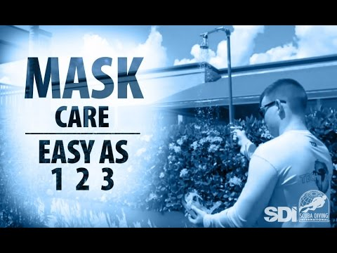 Mask, Snorkel & Fins | Mask Care: Easy as 1-2-3