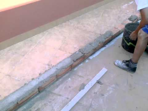 construcci n de un muro de ladrillo con repisa paso a paso