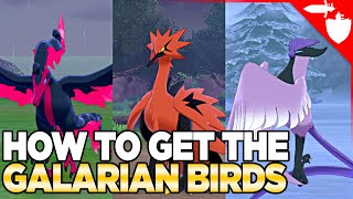 How to Get Galarian Birds, Articuno, Zapdos, & Moltres in Pokemon Sword and Shield DLC Crown Tundra