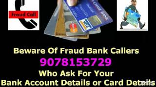 Recorded FRAUD BANK CALL