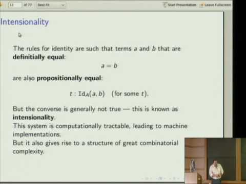 Constructive Type Theory and Homotopy - Steve Awodey