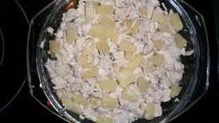 #25 Салат с курицей, ананасами и грибами