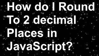 Round() Function In JavaScript…