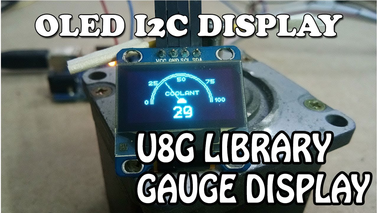 Arduino and OLED display I2C Gauge display FREE CODE