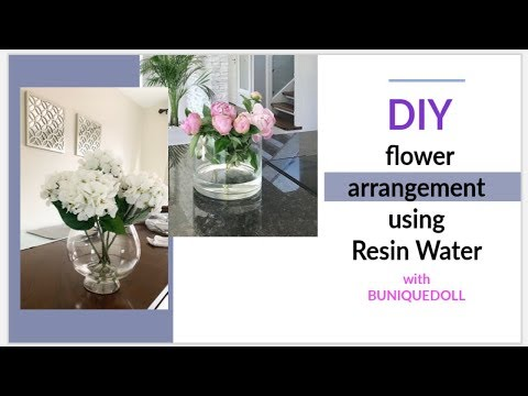 DIY FLOWER DECOR ON A BUDGET | RESIN WATER | Home Decor | buniquedoll