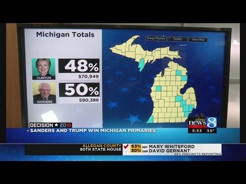Sanders, Trump win Michigan presidential primaries