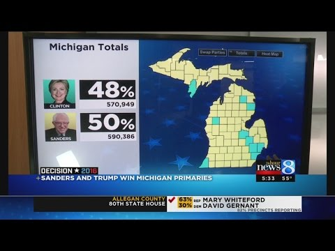 Sanders, Trump win Michigan presidential primaries