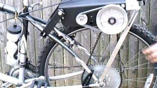 friction drive/chain drive bicycle engine kit - PROTOTYPE VID 1 of 2