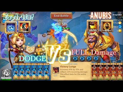 Dodge Espirita Vs Full Damage Anubis Who's KING? Castle Clash