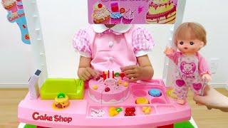 ケーキ屋さん おもちゃ メルちゃん / Cake shop Toy Mell-chan Doll(ケーキ屋さんのおもちゃで遊びました。 バースデーケーキやカップケーキ、フルーツプリンなど かわいいケーキが付いていて、自分でトッピング..., 2016-04-28T09:00:00.000Z)