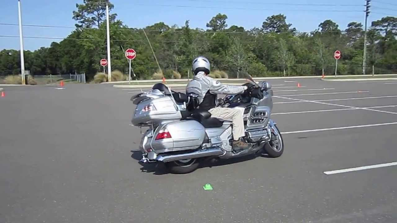 How to ride a motorcycle: Offset Cone Weave Exercise, Harley & Goldwing