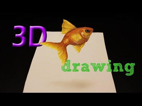 FISH drawing 3D ILLUSION / Zeichnung Fisch