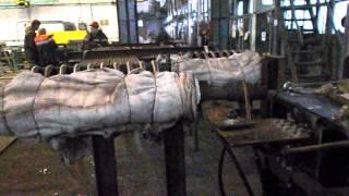 Подготовка установки термической обработки к отжигу коллектора
