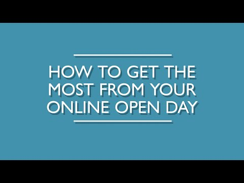 How To Get The Most From Your Online Open Day