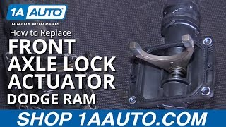 how to install replace front axle locker actuator 2006 10 dodge ram 1500 buy parts at 1aauto com