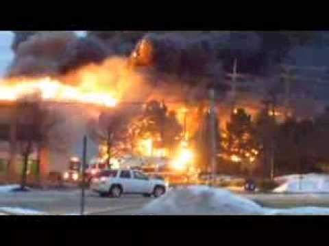 Livonia Michigan  Multi Alarm Fire Jan 15 2014