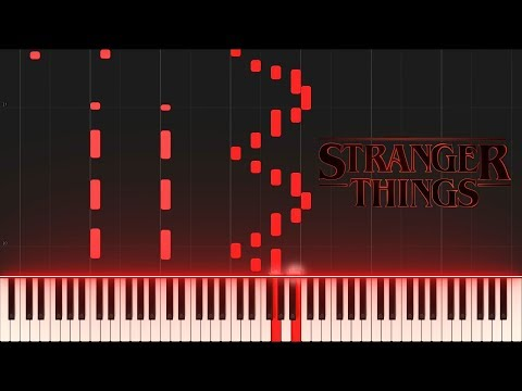 Stranger Things Opening Piano Synthesia Tutorial