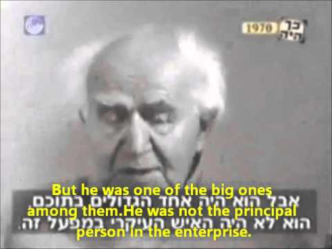 David Ben-Gurion 's zionism and the Nazis