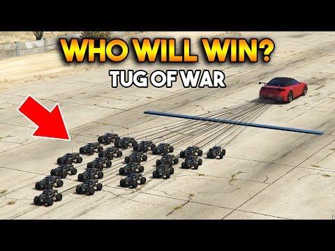 GTA 5 ONLINE : TUG OF WAR (WHO WILL WIN?)
