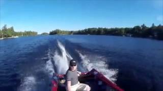 Outboard falls off
