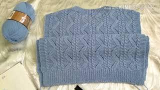 Женский джемпер / свитер спицами