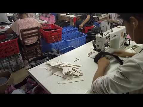Laptop bags stitching video.---Fuzhou Enxin Company