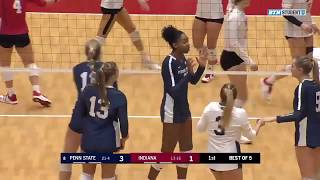 Highlights: Penn State at Indiana | B1G Volleyball | Nov. 20, 2019