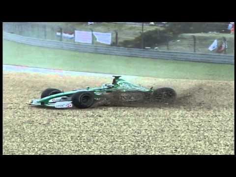 F1 European GP 2000 Crash - Eddie Irvine, Jos Verstappen & Ralf Schumacher