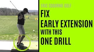 GOLF: Fix Early Extension In Your Golf Swing With This One Drill