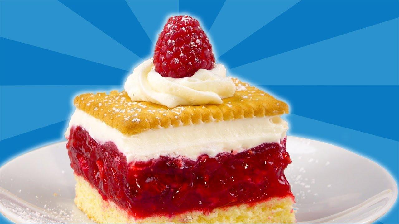 Einfacher Himbeer Kuchen Mit Keks Ein Rezept Fur Kekskuchen Youtube