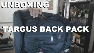 Unboxing - Targus BackPack