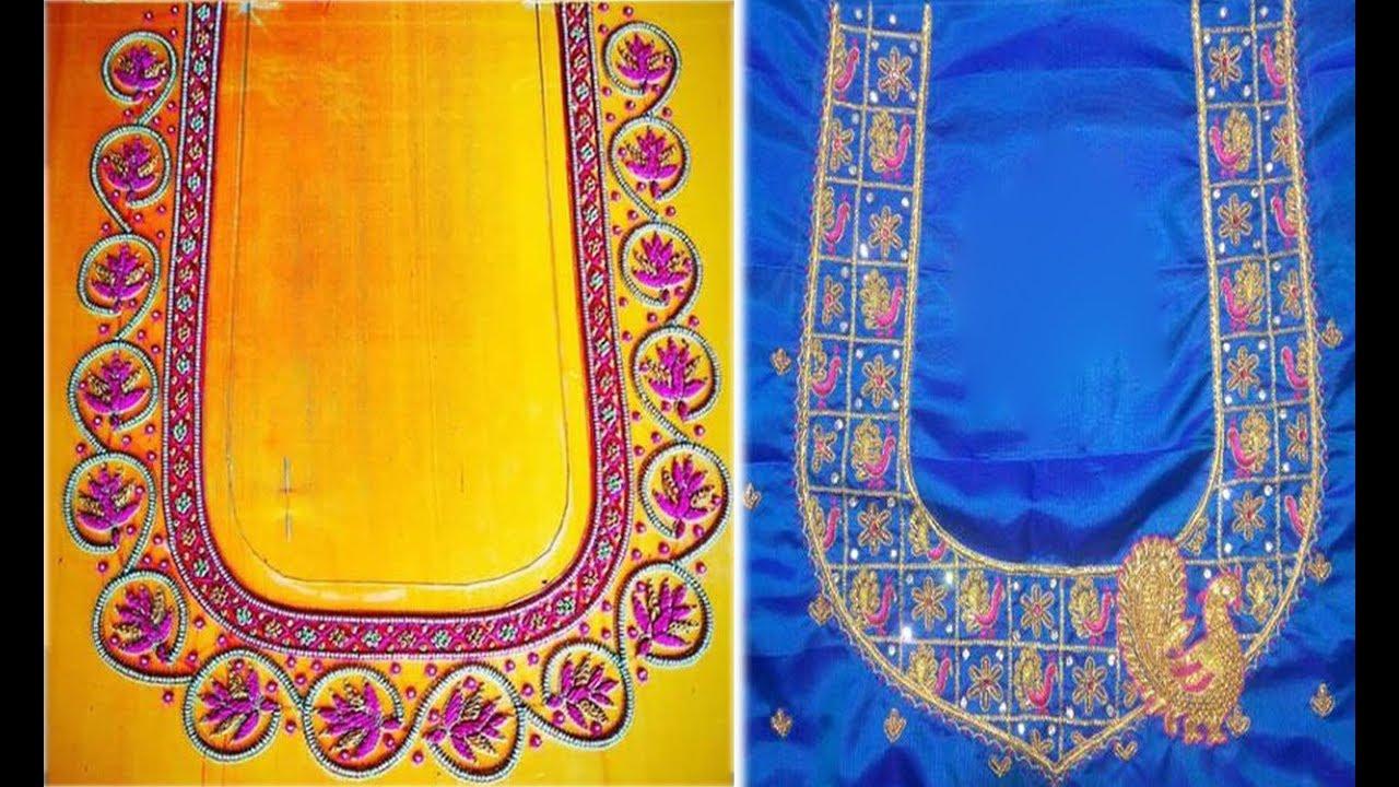 03fd55cc2f1a41 Latest Blouse Designs For Silk Sarees Back Design 2019