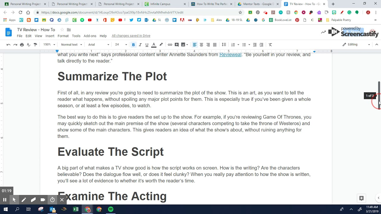 How to Write a TV Review