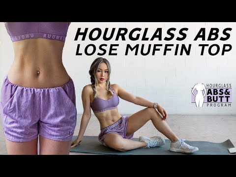 Hourglass Abs Workout  🙋‍♀️Lose Muffin Top & Love Handles | 10 Mins