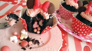 Minnie mouse  gimmick muffin /ミニーのギミックカップケーキ