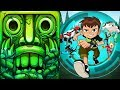 Temple Run 2 Lost Jungle VS Ben 10 Up to Speed Android iPad iOS Gameplay