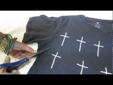 0ac4982ba Turn your t-shirt into a tank top! (Easy DIY) - YouTube