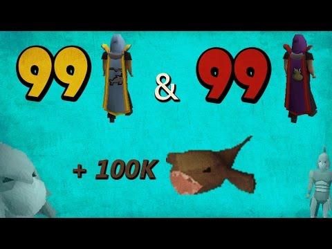OSRS Ironman 99 Cooking/Fishing   100k Monkfish   Jonah Hilt
