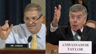 Rep. Jim Jordan grills William Taylor during impeachment hearing: full video